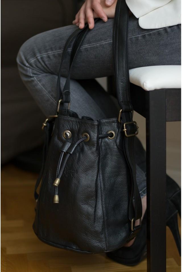 Charlotte PM - Cuir noir