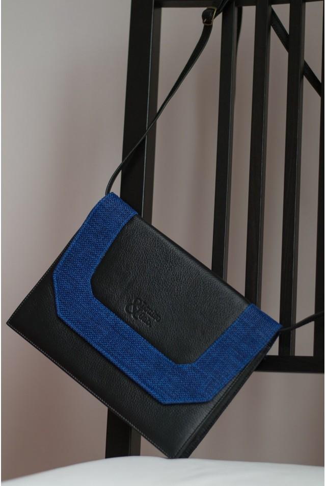 Sacoche noire et bleu nuit