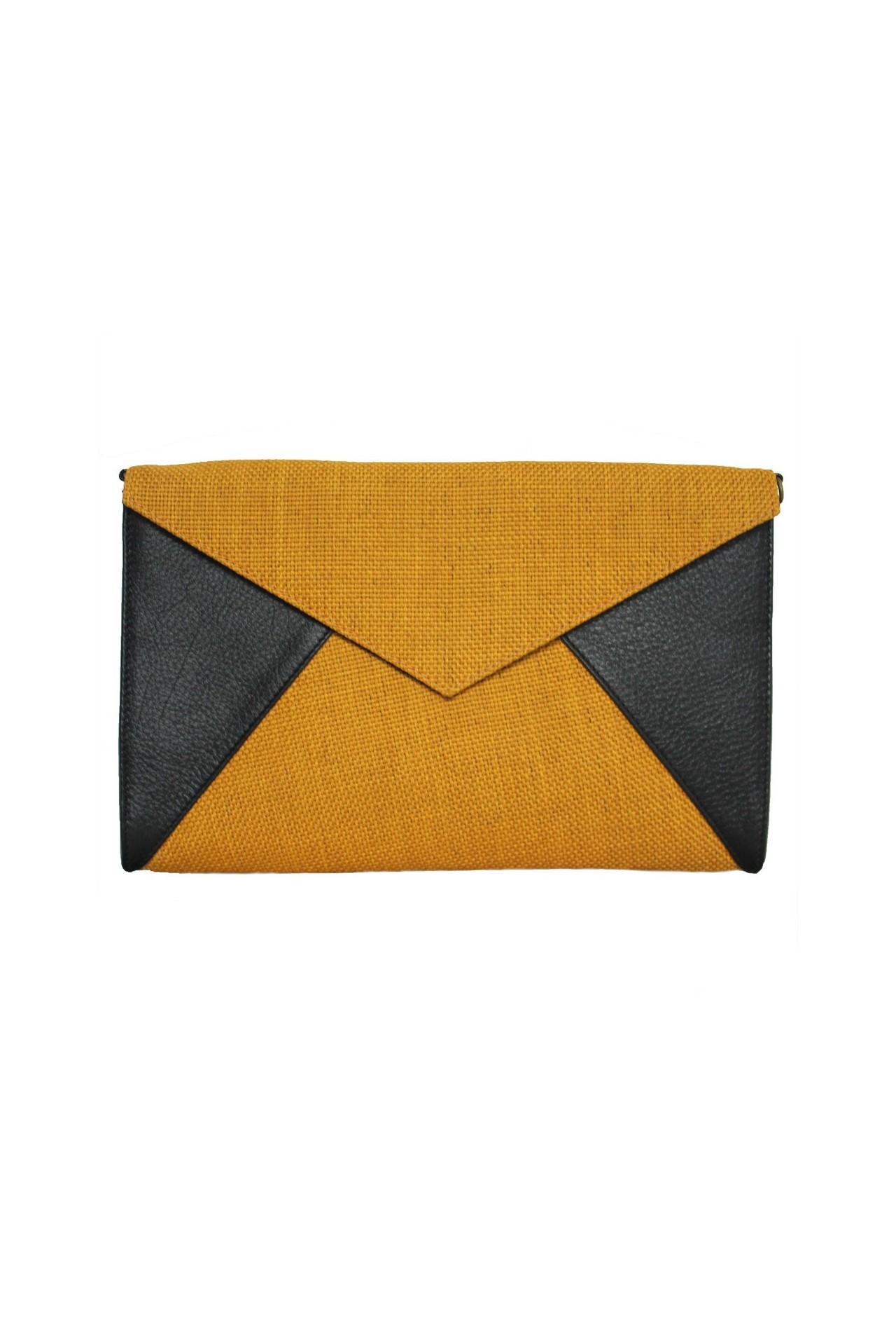 pochette enveloppe jaune moutarde. Black Bedroom Furniture Sets. Home Design Ideas